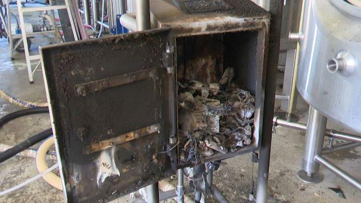 Cover for Machine fire takes toll on Lowville brewery