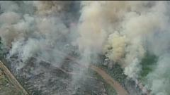 Cover for Fire south of Belen burns over 300 acres, residents prepared to evacuate