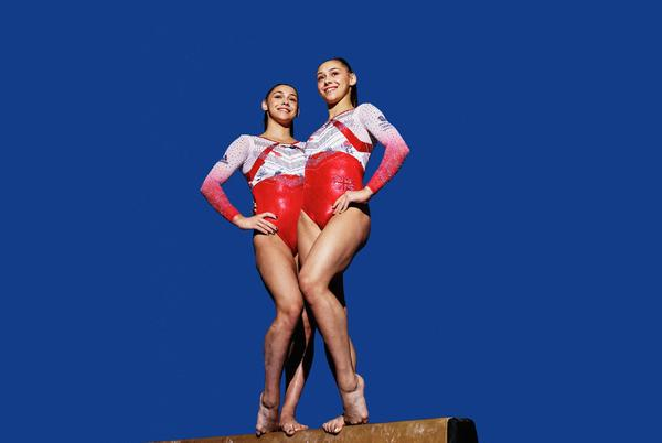 Picture for 'We were crazy kids just jumping on everything': gymnast twins Jessica and Jennifer Gadirova