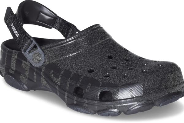 Picture for Pleasures' blacked-out Crocs are a little punk and a little glam