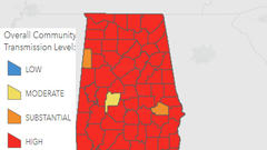 """Cover for ADPH: Virtually All of Alabama Ranked """"High"""" for COVID-19 Community Transmission"""