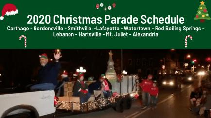 Schedule of 2020 Christmas Parades in Smith County and surrounding