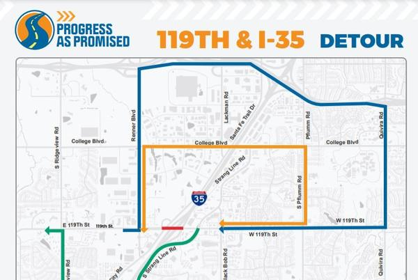 Picture for Reopening of 119th Street bridge over I-35 in Olathe delayed through end of September