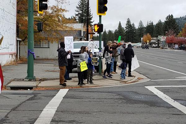 Picture for Plumas residents participate in anti-vaccine mandate protest