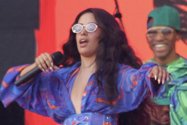 Picture for Camila Cabello Reunites with Shawn Mendes at Global Citizen Live in a Groovy Corset, Leggings and Matching Robe
