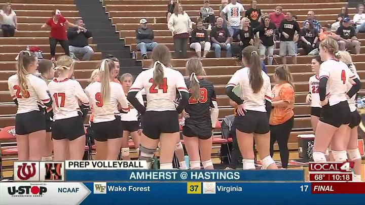 Cover for Hastings volleyball earns tough win over Amherst