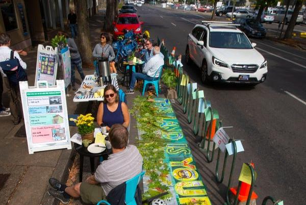 Picture for Park(ing) Day: Citizens transform parking area to raise awareness of space used by parked vehicles