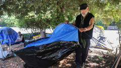 Cover for Authorities to clear relocated homeless camp near downtown Guerneville