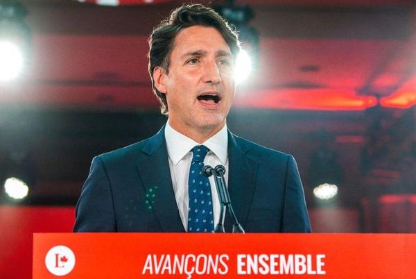 Picture for Canada election: Trudeau stays in power but Liberals fall short of majority