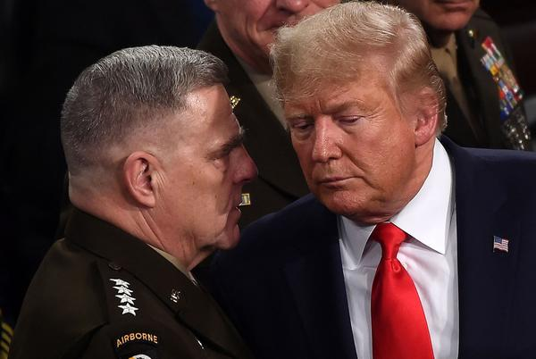 Picture for Milley's actions were attempted military coup against Trump: Goodwin