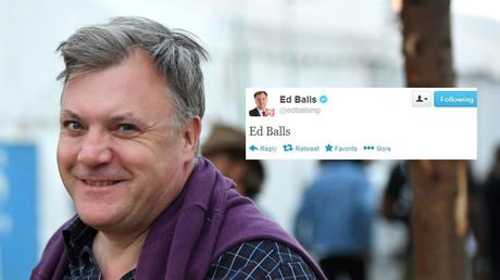 Picture for Ten years ago today Ed Balls tweeted his own name and became a legend