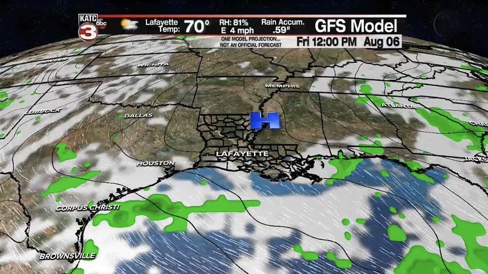 Picture for Gumbo Weather In August? Possible Cool Front Next Week In Lafayette