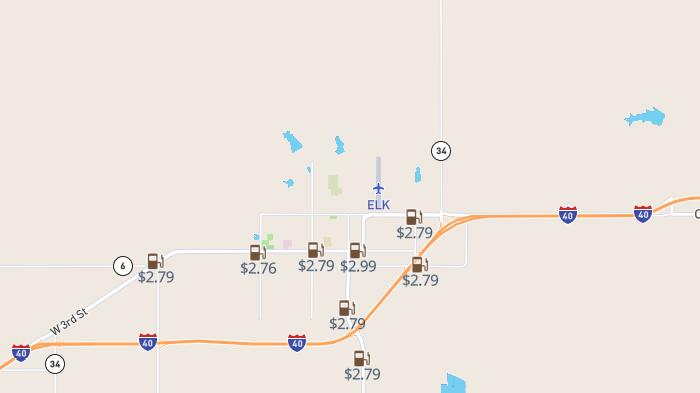 Picture for High-price warning: Most and least expensive gas in Elk City as of Sunday