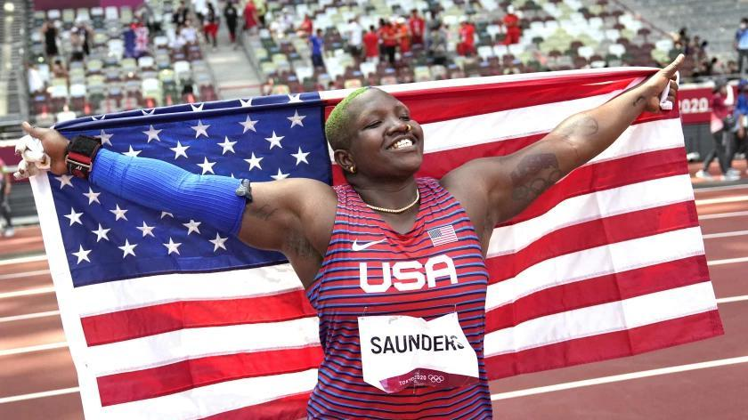 Picture for Raven Saunders shows a face of power and pure joy in capturing Olympic silver