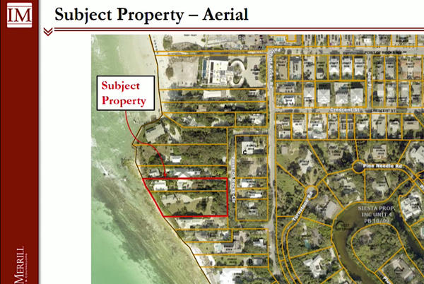 Picture for Graphics depicting flood surge effects on Siesta Key prompt Commissioner Detert to join her colleagues in approving new home construction seaward of county's Gulf Beach Setback Line