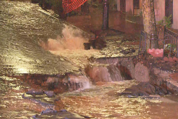 Picture for 'It Looked Like Niagara Falls,' Massive Water Main Break Floods Part Of Beacon Hill