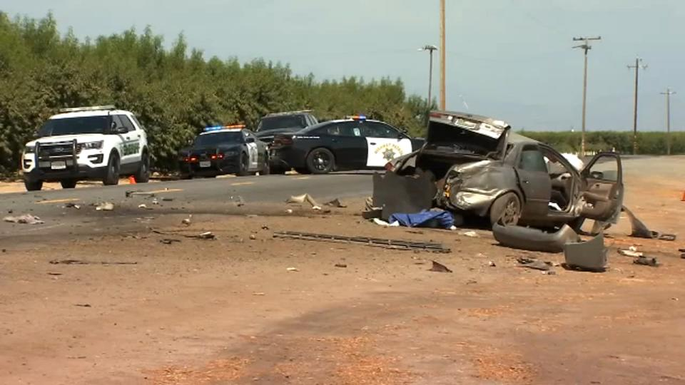 Picture for 3 killed in multi-vehicle crash in Tulare County