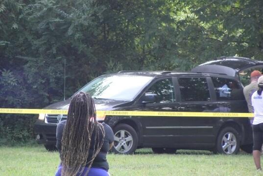 Picture for Coroner, police gathered at Okolona crime scene