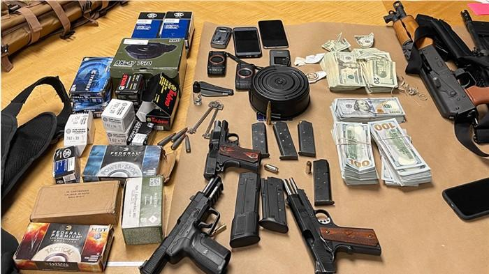 Cover for OSP TROOPERS SEIZE FIREARMS, CASH DURING HIGH-RISK TRAFFIC STOP AFTER ROAD RAGE INCIDENT ON INTERSTATE 5 IN OREGON