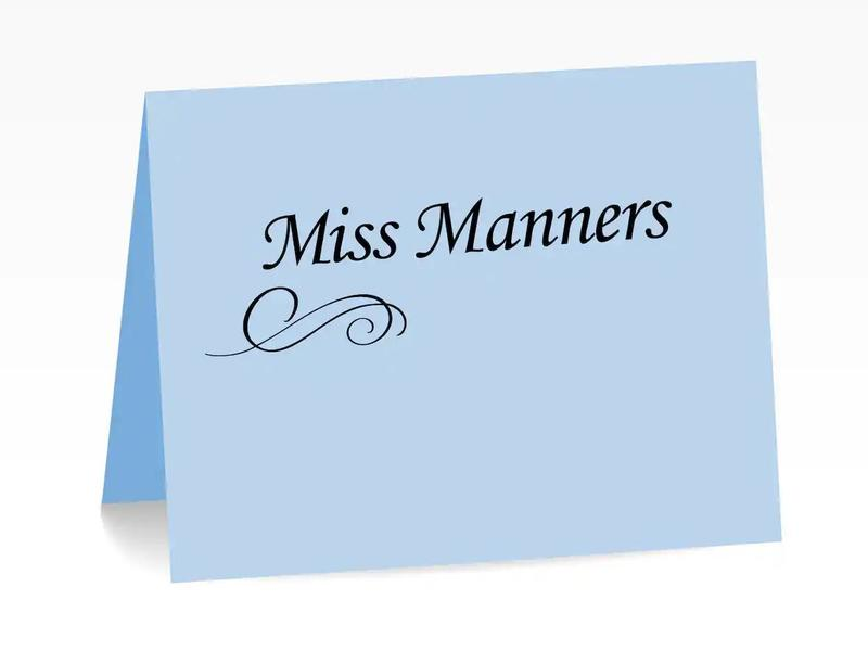 miss manners online dating)
