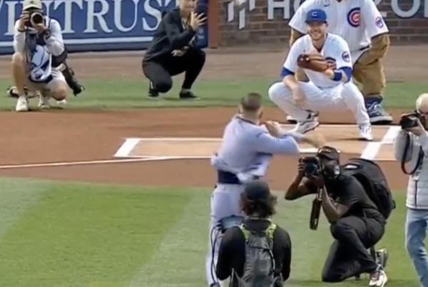 Picture for Conor McGregor threw the worst first pitch ever at the Cubs game