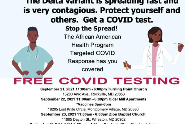 Picture for Free COVID-19 Tests + Vaccines in Montgomery County, MD