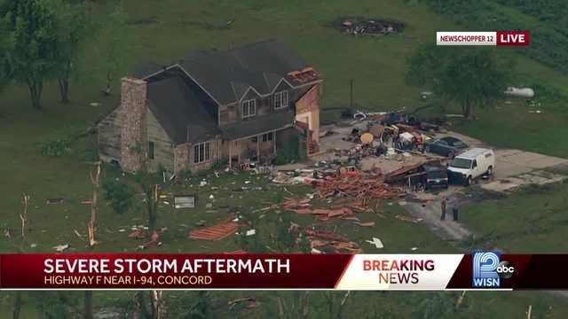Picture for At least 4 tornadoes confirmed in southeast Wisconsin