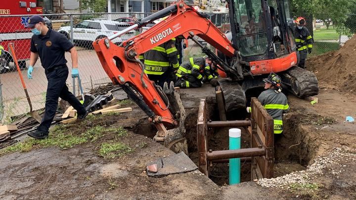 Cover for Lakewood first responders celebrated for saving construction worker's life