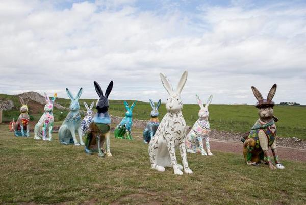 Picture for Big Hare Trail auction: see what each hare sold for and which ones are staying in East Lothian