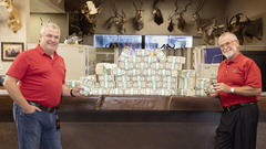 Cover for Hornady gives $2 bills to employees as part of bonus