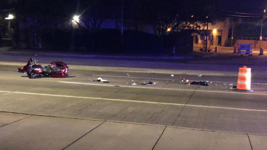 Picture for 2 taken to hospital after motorcycle crash in Dayton