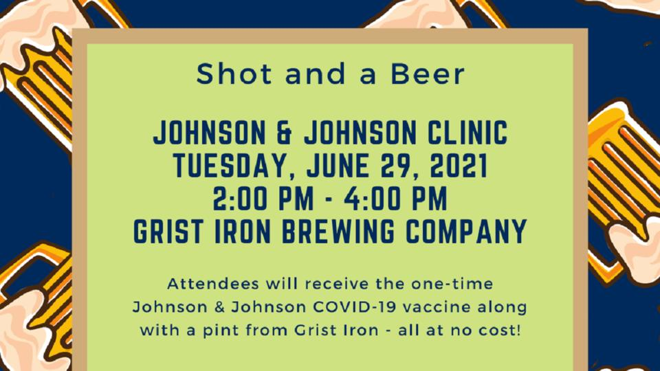 Picture for Schuyler County Public Health and Grist Iron Brewing Company partnering to hold Johnson & Johnson COVID-19 vaccine clinic