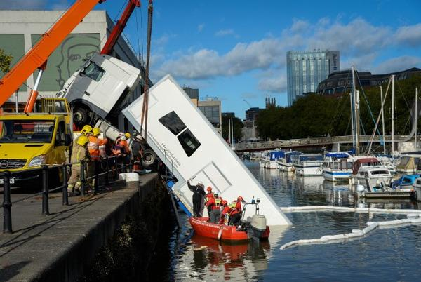 Picture for BBC's The Outlaws in chaos as trailer carrying costumes crashes into harbour