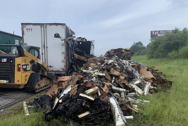 Picture for I-10 clear after 18-wheeler catches fire, backs up traffic for miles