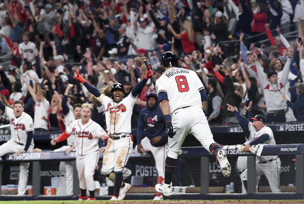 Picture for Braves fend off Dodgers to close out NLCS, reach first World Series since 1999