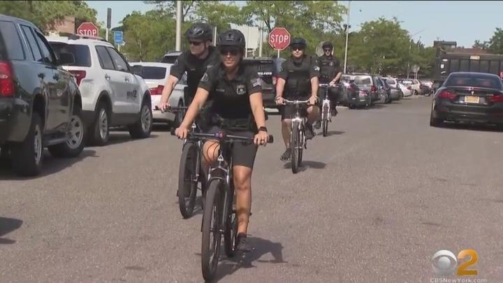 Cover for Hempstead's Effort To Revitalize Downtown, Transit Hub Starts With Community Policing Unit On Mountain Bikes