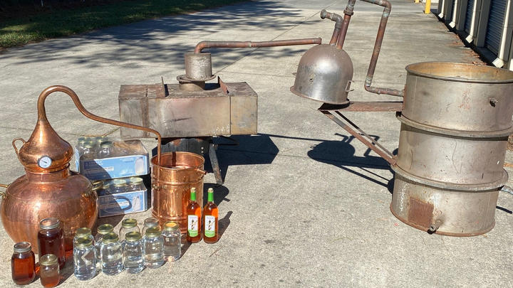 Cover for Illegal distillery busted in North Carolina