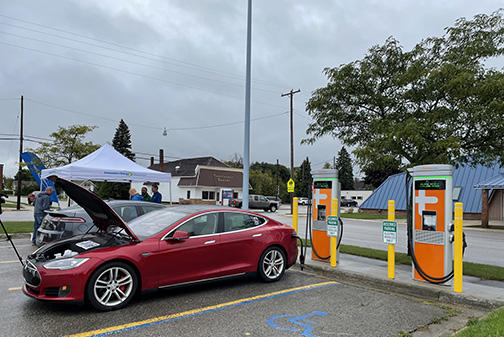 Picture for Consumers Energy celebrates new EV chargers in Harrisville and Rogers City
