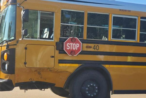 Picture for SUV collides with Hastings Public School bus