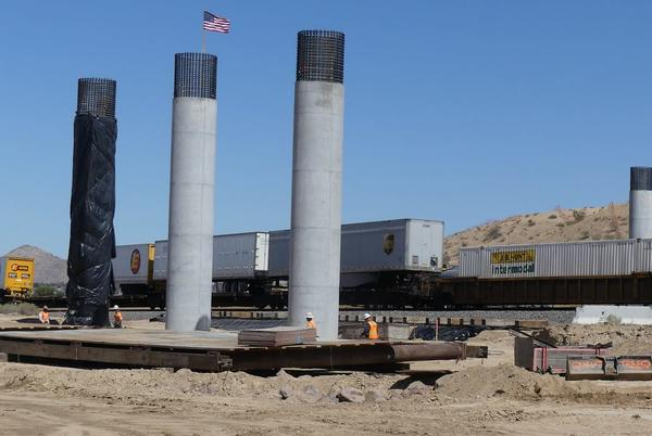 Picture for Bridge support beams standing for Green Tree Extension as project progresses in Victorville