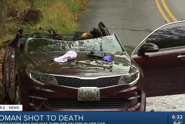 Picture for Woman found dead in burning car Sunday morning