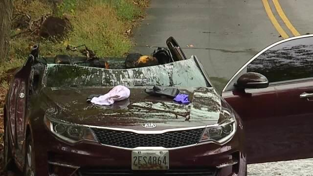 Cover for Woman found dead in burning car Sunday morning