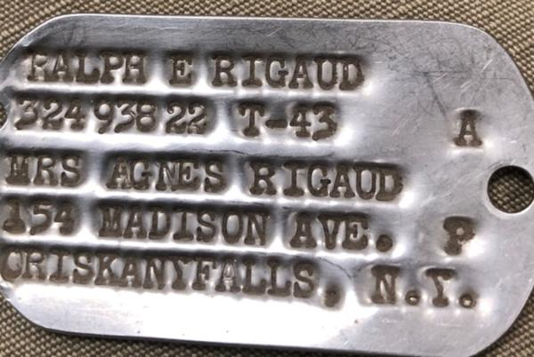 Picture for World War II dog tag found in Kearney connects Nebraska, New York families