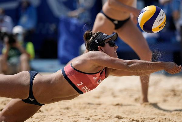 Picture for US-Canada women's Olympic beach volleyball match marred by controversial challenge reversal; Twitter furious
