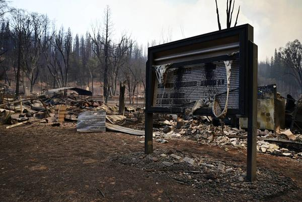 Picture for 'The town is completely gone.' Dixie Fire devastates California Gold Rush town of Greenville