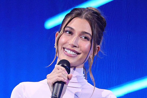 Picture for Hailey Baldwin Steals the Show in a Sheer Pink Dress & Silky Pumps at 2021 MTV VMAs