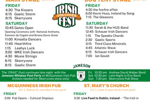 Picture for Irish Fest kicks off tonight in Appleton with Scottish band Skerryvore