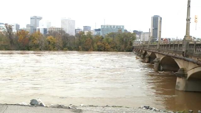 Picture for No swimming in the James after 300,000 gallons of sewage leaked
