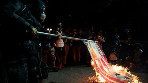 Protesters burn Bible, American flag as tensions rise in Portland ...