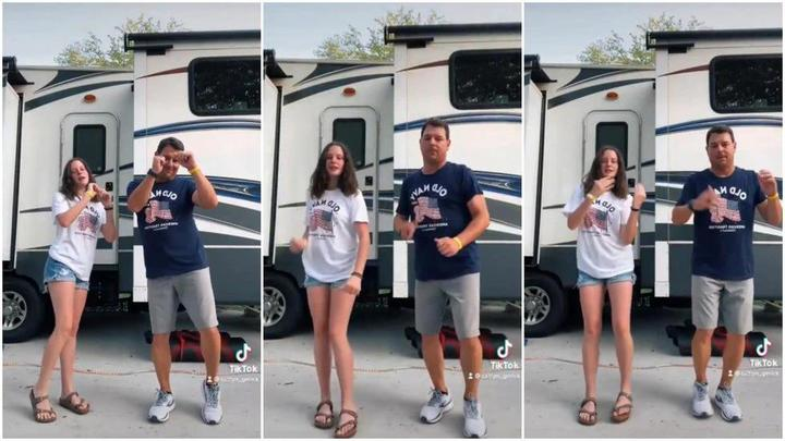 Cover for Central Texas father-daughter dancing duo featured in fan music video for hit song